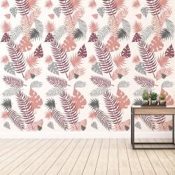 Vinilo pared hojas palmera