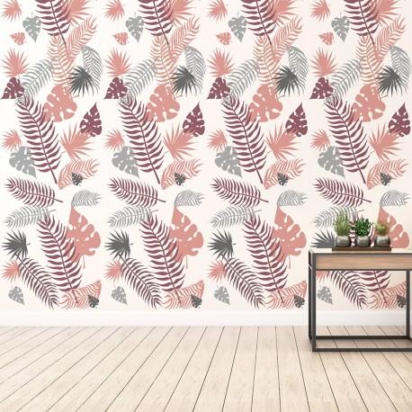 Papel pared hojas palmera