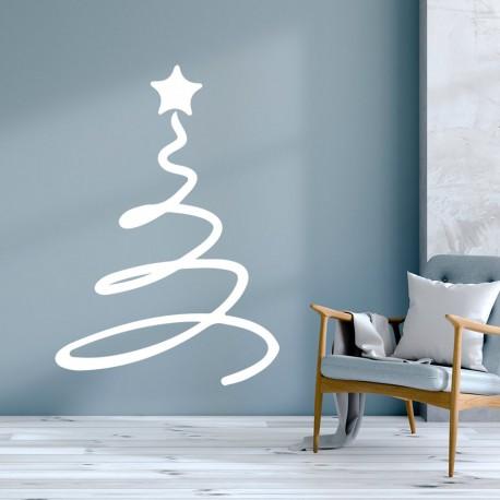 Arbol de navidad de vinilo decorativo