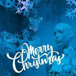 Adhesivo Merry Chrismas
