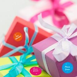 Nennen Sie Aufkleber für Geschenke