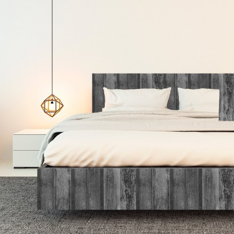 Vinilo efecto madera grises oscuros vintage