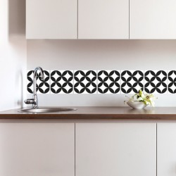 Hydraulic tile vinyl tiles