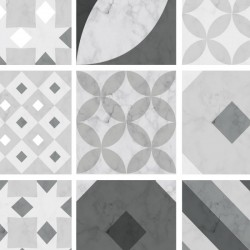 Individual Venice vinyl hydraulic tiles