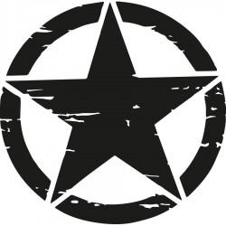 Adhesivos estrella militar para 4x4