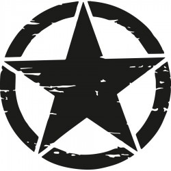 Militärsternaufkleber für 4x4
