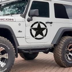 Stickers étoiles militaires pour 4x4