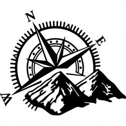 Kardinalpunkte Aufkleber Camper