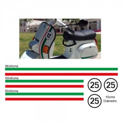 Stickers vespa Italian flag