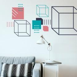 Sinthwave-style geometric