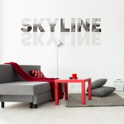 Skyline vinyl for wall
