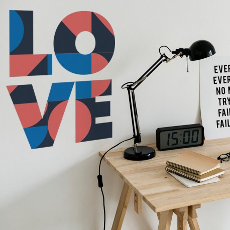 Adhesivo decorativo Love