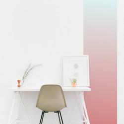 Rayure verticale dégradé rose à bleu clair