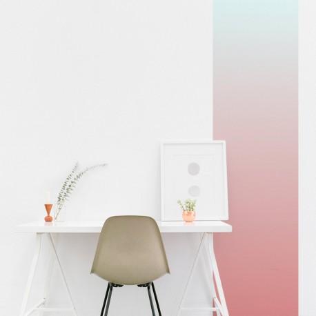 Vertikaler Streifenverlauf rosa bis hellblau
