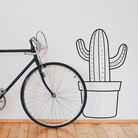 Cactus decorativo de vinilo