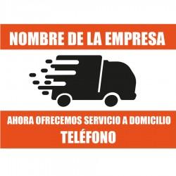 Service à domicile d'affiche d'information
