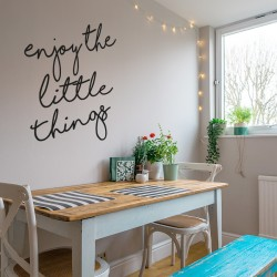 Enjoy Little things vinyl phrase