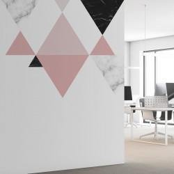 Mural triángulos texturas