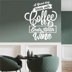 Frase divertida café y vino