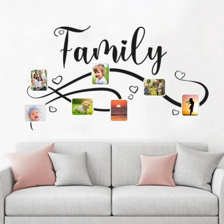 Sticker mural pour mettre des photos de famille