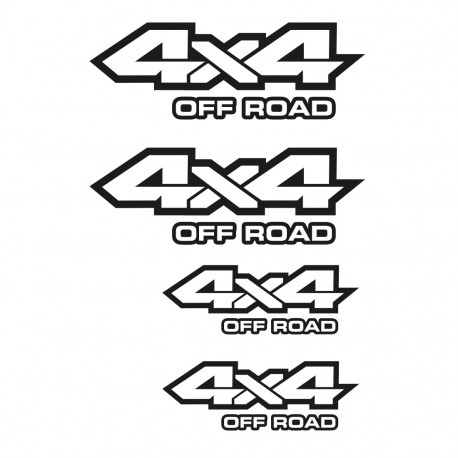 4x4 Offroad All Terrain Aufkleber