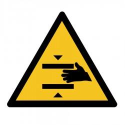 Sticker suitability hand entrapment