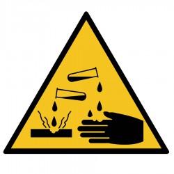 Pegatina adecuación pelibro corrosivo