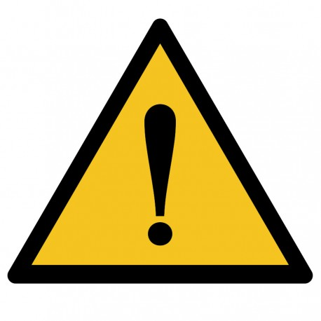 Pegatina adecuación Advertencia peligro