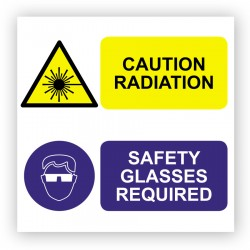 Radiation hazard suitability sticker