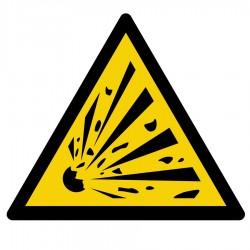 Pegatina adecuación peligro explosión