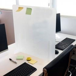 Mampara metacrilato anti contagio separadora oficina