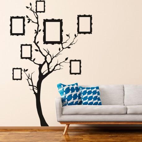 Arbre en vinyle pour mettre des photos sur le mur