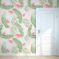 Soft tropical wall vinyl