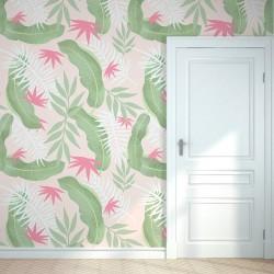 Vinilo mural tropical suave