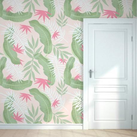 Sticker mural tropical doux