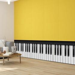 Bordure de mur de clavier de piano