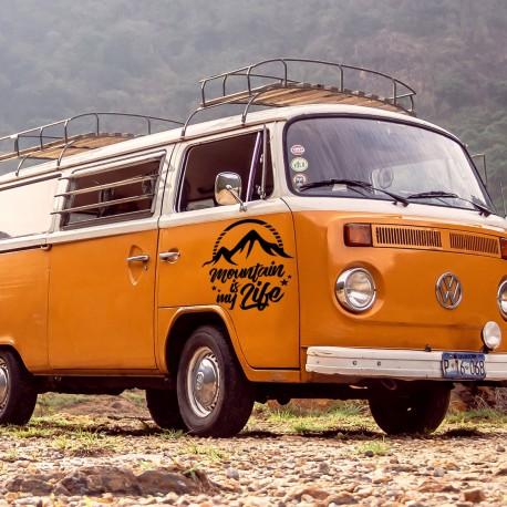 Pegatina furgoneta amantes de la montaña