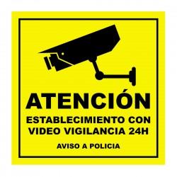 Pegatina video vigilancia