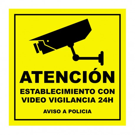 Pegatina video vigilancia