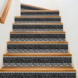 Adhesivos para escalones de estilo mudcloth africano