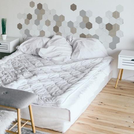 Vinilo para pared cabezal dormitorio