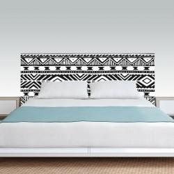 Sticker mural tête de lit de chambre style boue