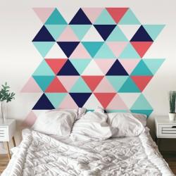 Sticker mural tête de lit de style nordique