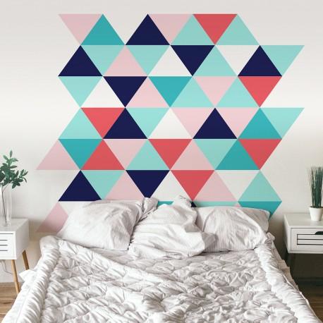 Vinilo para pared cabezal cama dormitorio de estilo nórdico