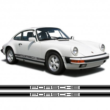 Seitenstreifen Aufkleber Replik Porsche 911