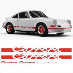 Stickers adhésifs réplique Porsche Carrera