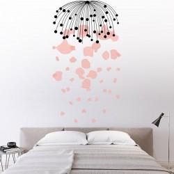 Tête de lit de chambre à coucher floral