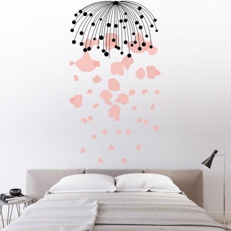 Cabecero dormitorio lluvia floral