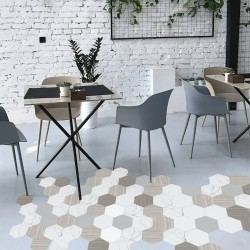 Hexagon vinyl for flooring