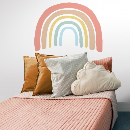 Arcoiris cabecero cama